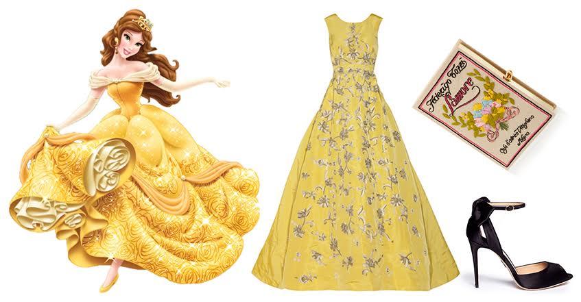 Платье Oscar de la Renta; Tуфли Paul Andrew; Клатч Olympia Le-Tan