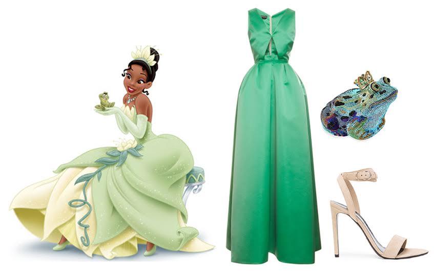 Платье Rochas; Tуфли Balenciaga; Клатч Judith Leiber