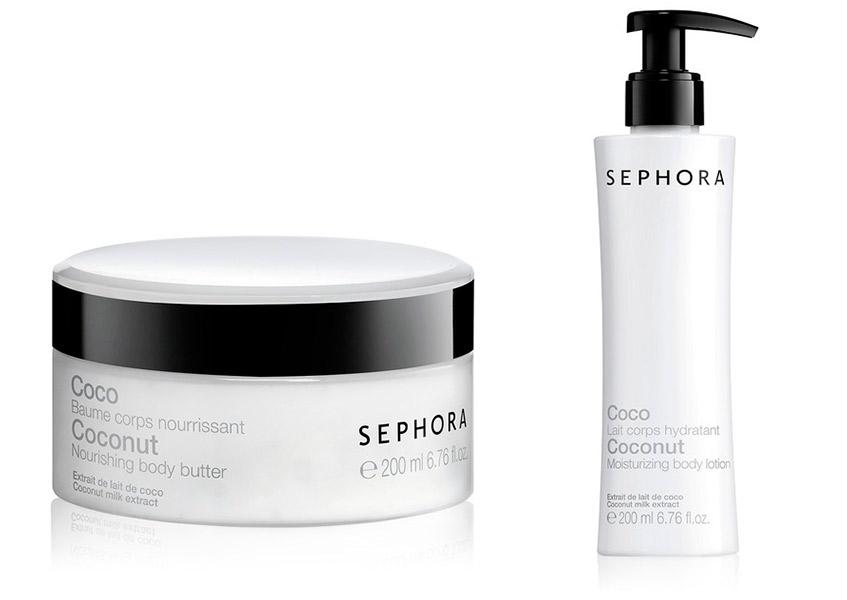 Sephora, крем для тела с ароматом кокоса