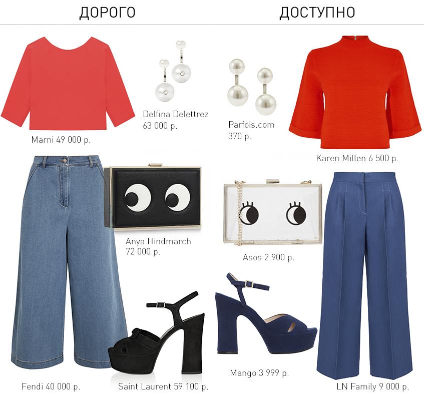 Дорого/доступно: образ с красной блузкой