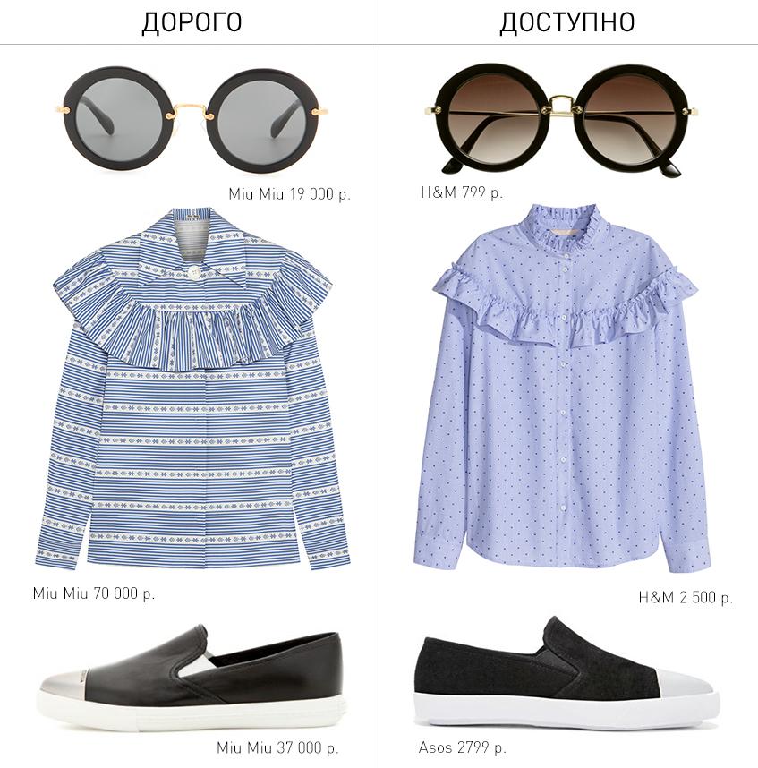 Дорого/доступно: три вещи от Miu Miu к весне