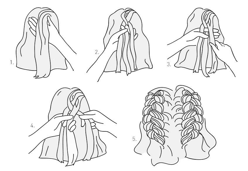 Картинки схемы косичек