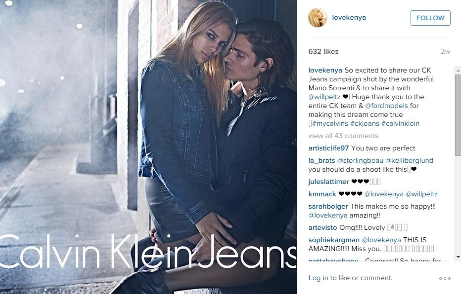 Calvin Klein Jeans, Кения Кински