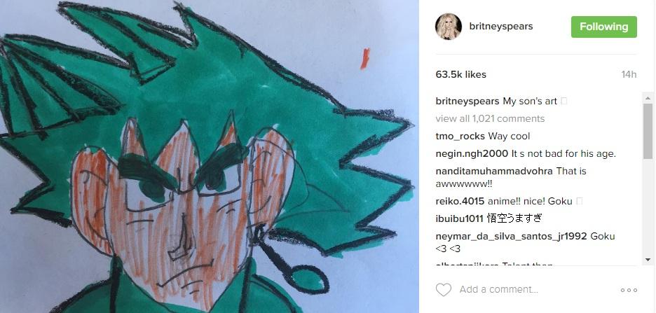 Рисунок сына Бритни