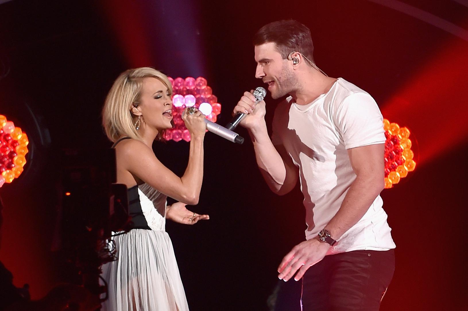 grammy awards 2016 Carrie Underwood Sam Hunt