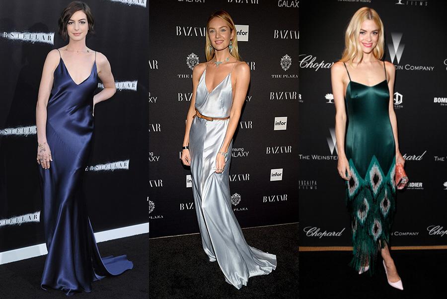 Звезды в платье комбинации