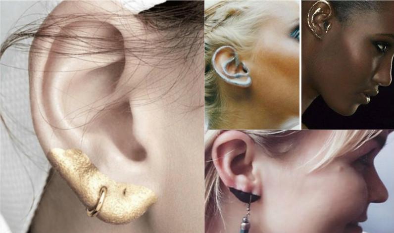 макияж ушей