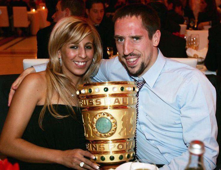 Франк Рибери с женой
