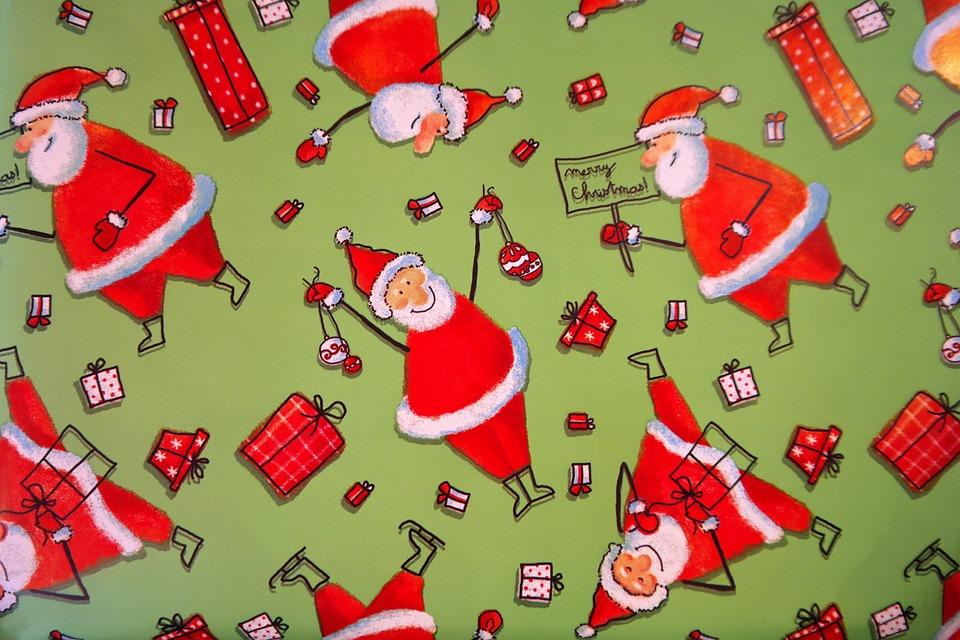 Картинки для упаковки подарков на новый год