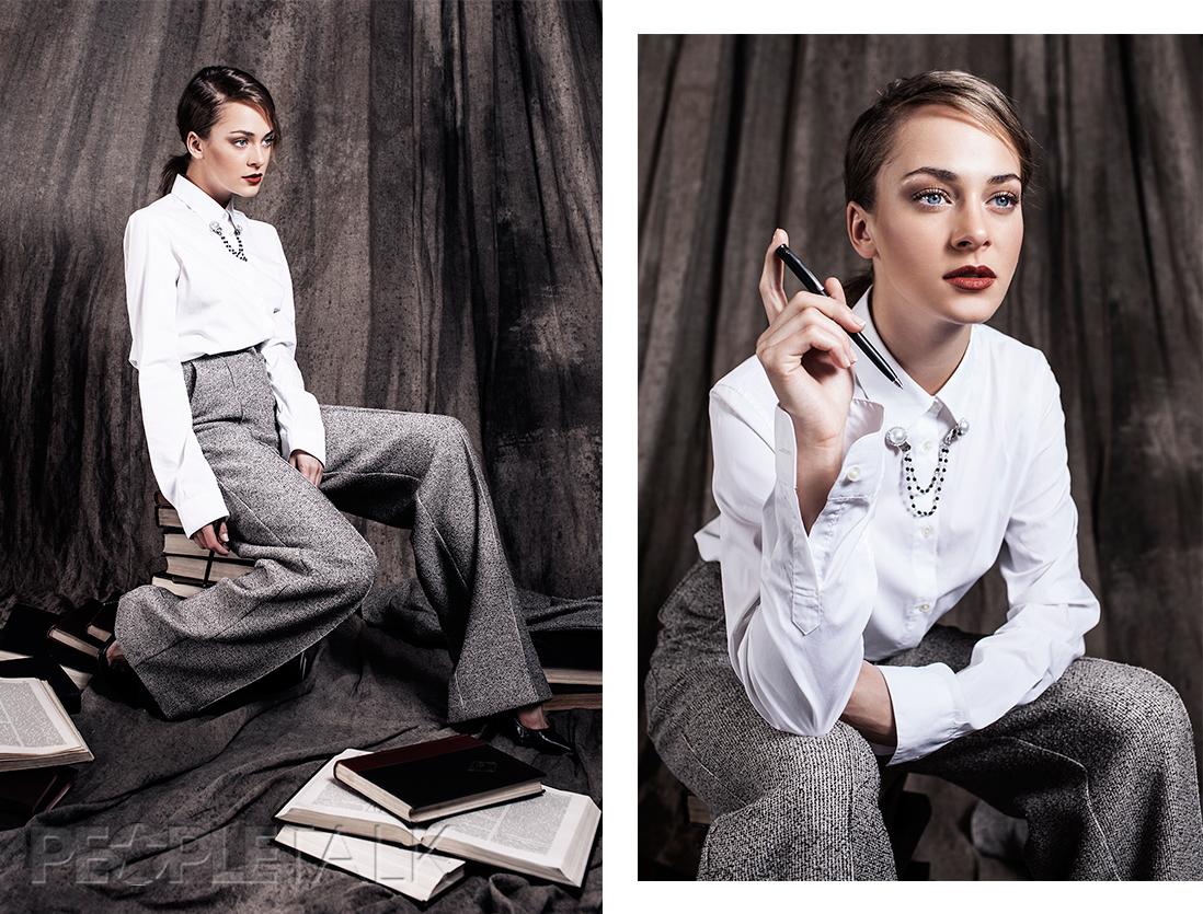 Рубашка, UK Style; брюки, Nebo; туфли, Christian Louboutin