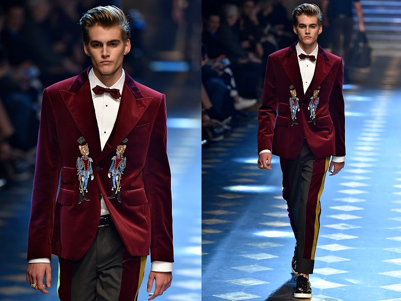 Пресли Гербер (17) на показе Dolce & Gabbana