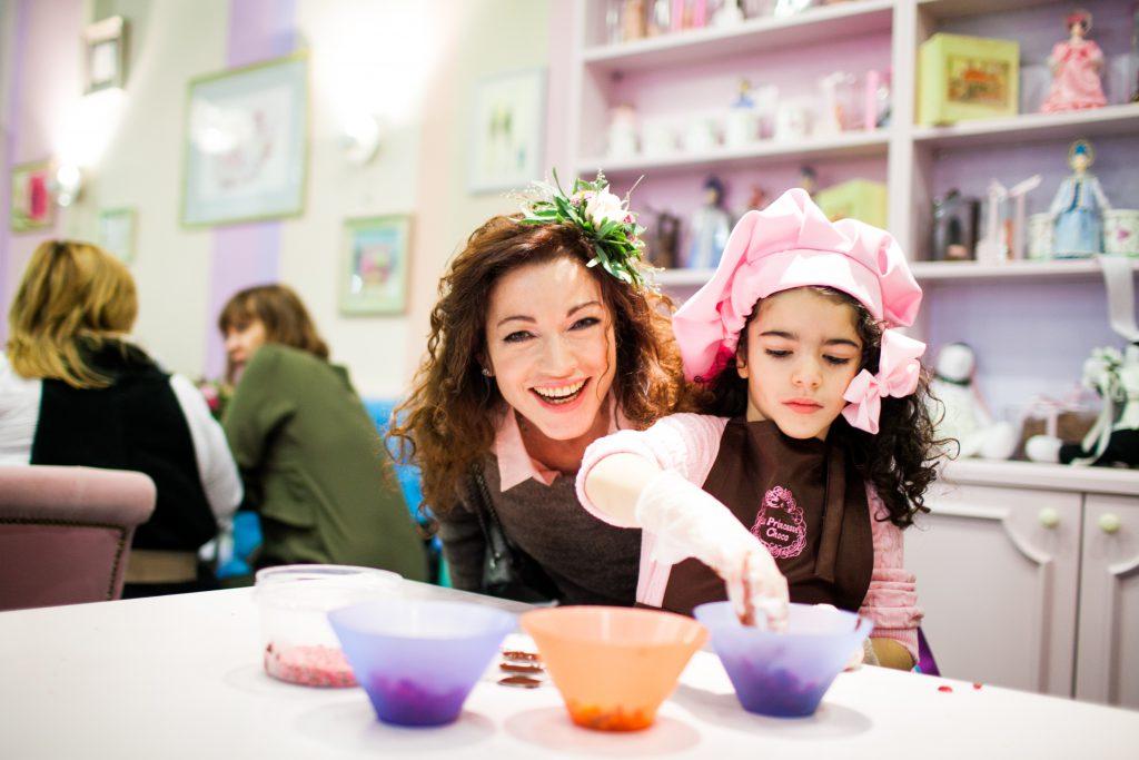 Алена Хмельницкая с дочкой Ксенией