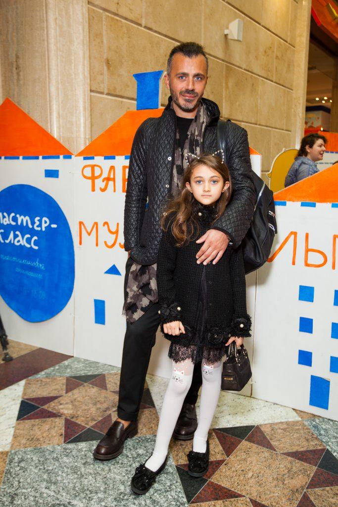 Александр Сирадекиан с дочкой Эммануэль