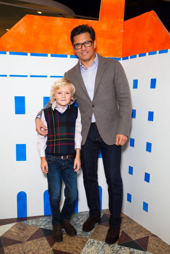 Антон Борисевич с сыном Максимом