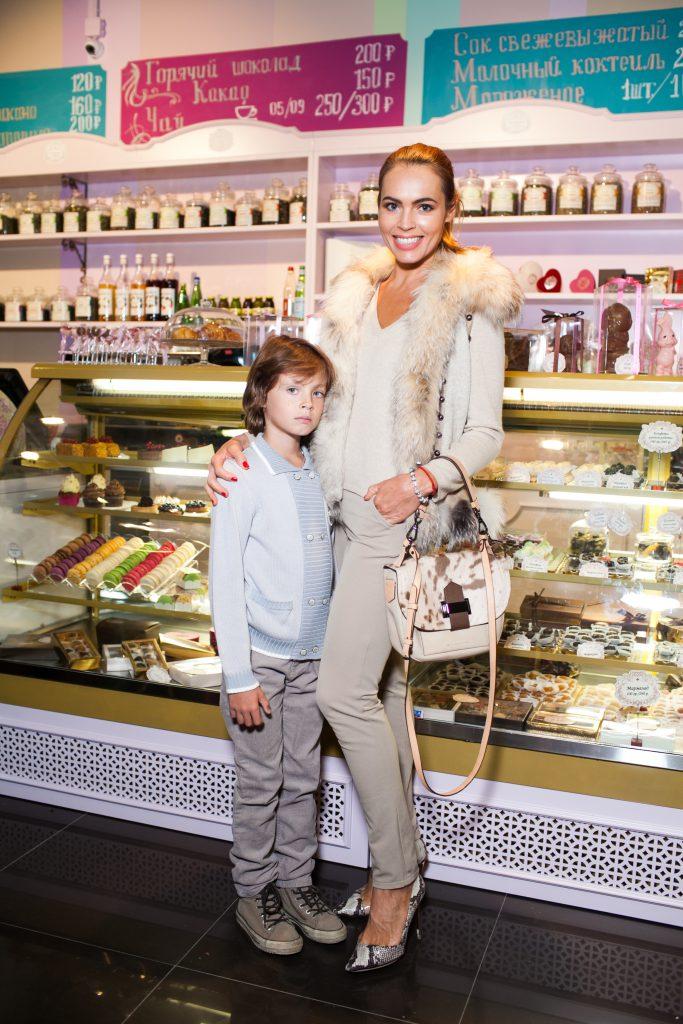 Екатерина Дробыш с сыном Никитой