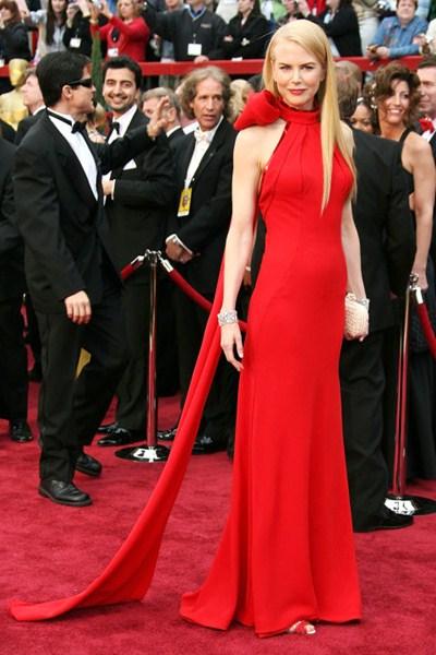 Актриса Николь Кидман (47) в платье Balenciaga. 2007 год.