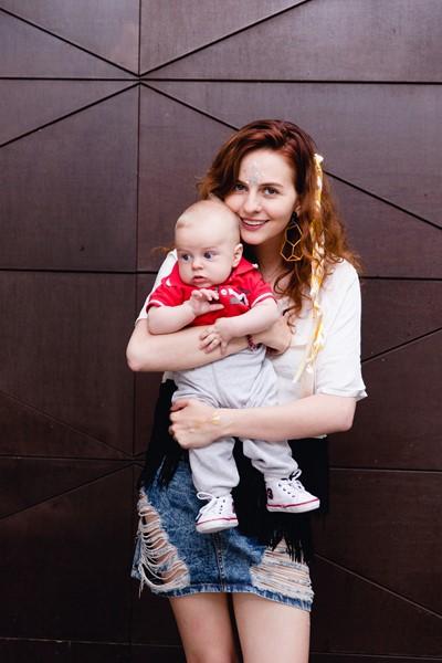 Юлия Прудько с сыном Федором