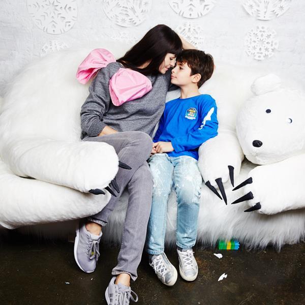 Инга Синчинова с сыном Марком