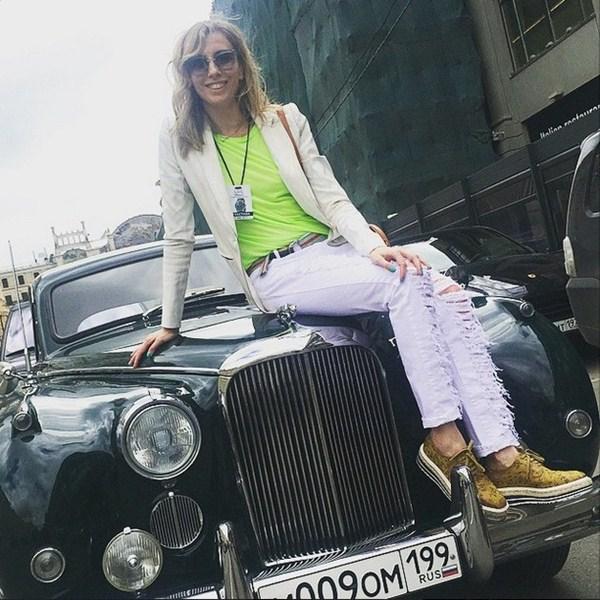 Светлана Бондарчук посетила ралли старинных автомобилей L.U.C Chopard Classic Weekend Rally.