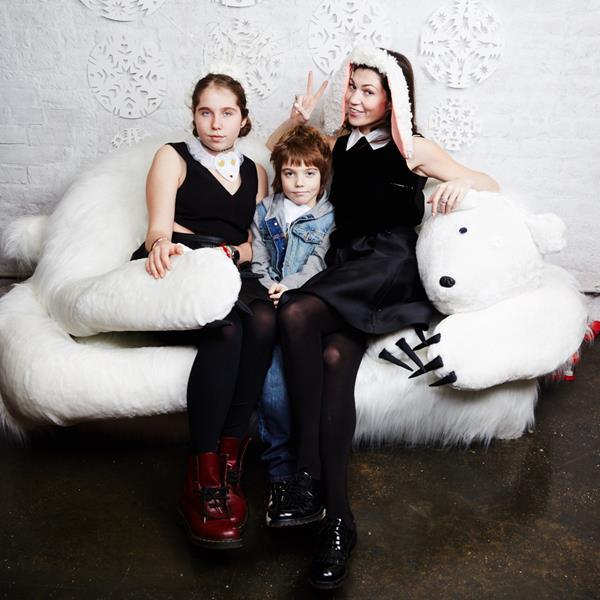 Евгения Линович с сыном Борисом и дочерью Алиной