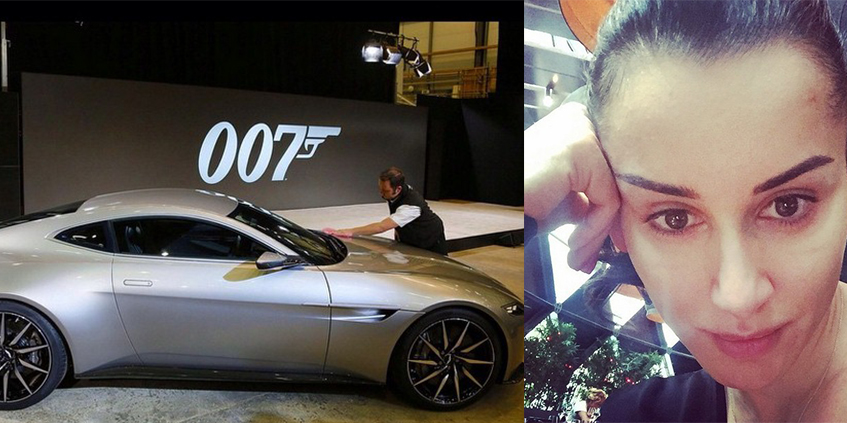 Тина Канделаки без макияжа, как без бронежилета, искала Aston Martin агента 007, чтобы погонять.
