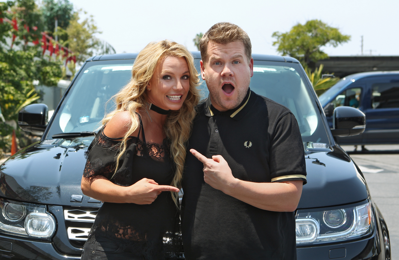 Britney Spears joins James Corden for Carpool Karaoke on ÒThe Late Late Show with James Corden,Ó Airing Thursday, August 25th 2016, on The CBS Television Network. Photo: Sonja Flemming/CBS ©2016 CBS Broadcasting, Inc. All Rights Reserved