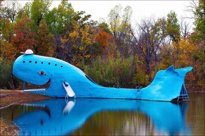 Голубой кит из Катузы в штате Оклахома.