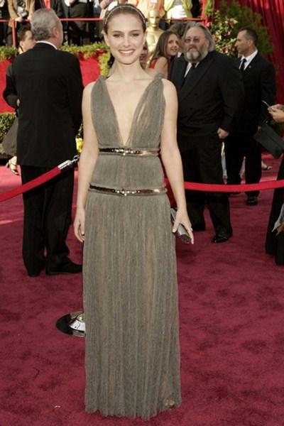 Актриса Натали Портман (33) в платье Lanvin. 2005 год.