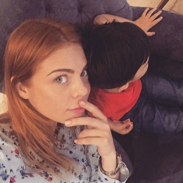 Анастасия Стоцкая провела выходные с сыном.