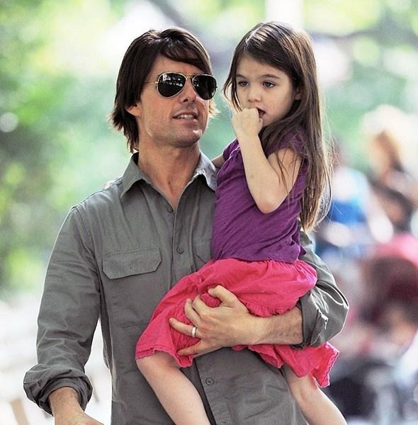 Актер Том Круз (52) с дочерью Сури (9)