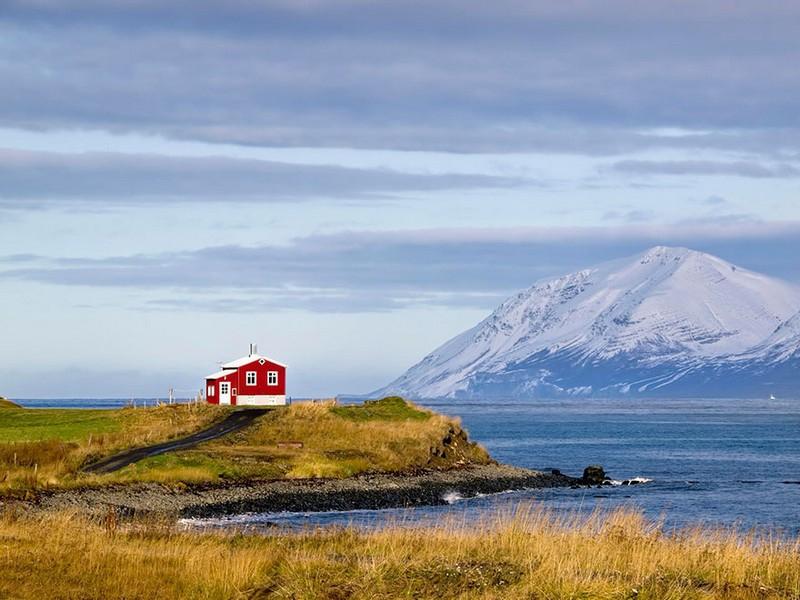 Маленький красный дом. Исландия.