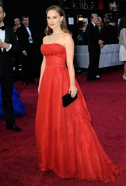 Актриса Натали Портман (33) в платье Christian Dior. 2012 год.