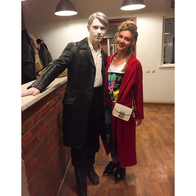 Кристина Асмус с товарищем и коллегой по работе Даней Могутовым.