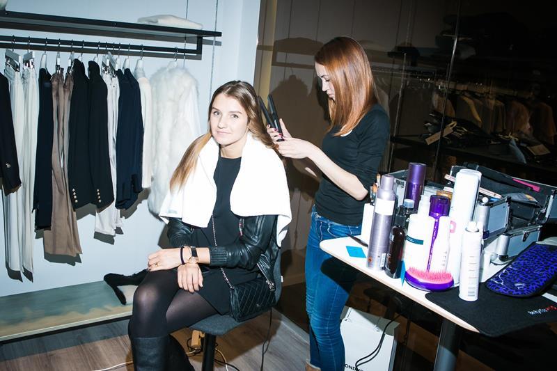 Гостья вечера в hair&make up зоне от Kynsi
