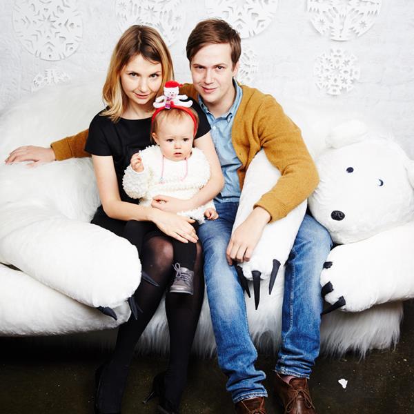 Екатерина Федорова и Армас Викстрем с дочерью Ниной