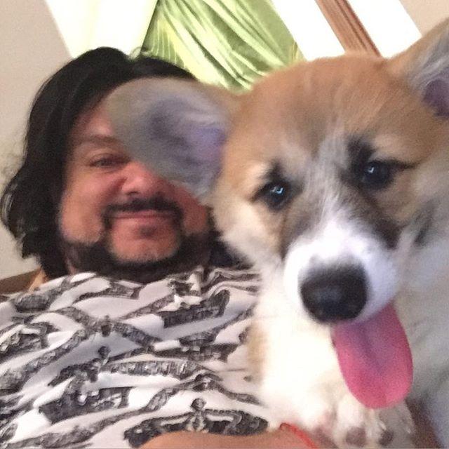 Филипп Киркоров приучал собаку делать селфи.