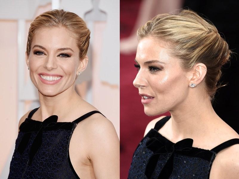 Сиенна Миллер (33) Бронзовый макияж и небрежная прическа. Актриса не стала изменять своему традиционному стилю бохо.