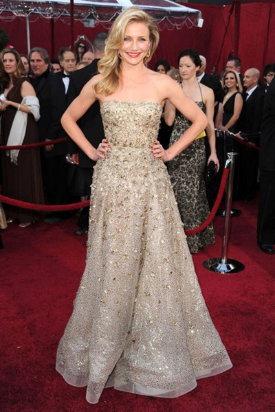 Актриса Камерон Диаз (42) в платье Oscar de la Renta. 2010  год.