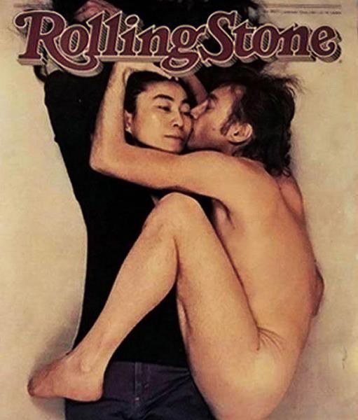 Джон Леннон и Йоко Оно журнал Rolling Stone, январь 1981. Фото Джона Леннона было сделано Энни Лейбовиц за пять часов до его трагической гибели. В 2005 году эта журнальная обложка была признана лучшей за последние 40 лет.