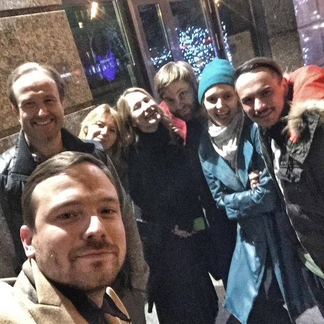 Алексей Чадов встретился со своими друзьями.