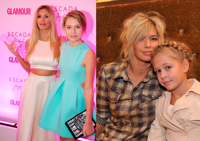 Певица Вера Брежнева (33), Соня Войченко (14) и Сара Киперман (6)