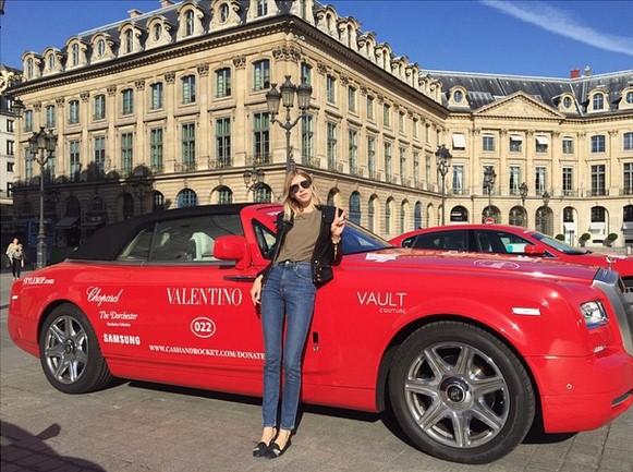 Лена Перминова участвовала в благотворительном заезде @cash_and_rocket в команде Stylebop.com и @maisonvalentino, став одной из 70 знаменитых женщин – участников заезда.