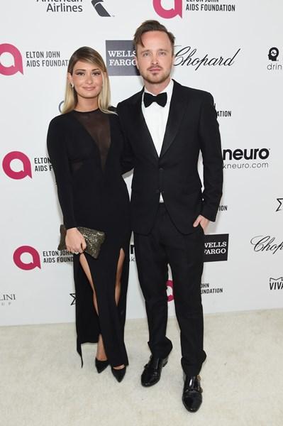 Аарон Пол с женой