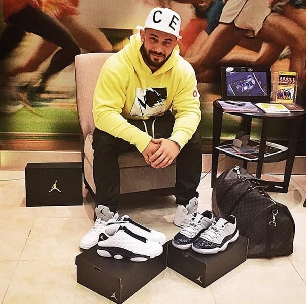 Джиган пополнял свою коллекцию кроссовок.