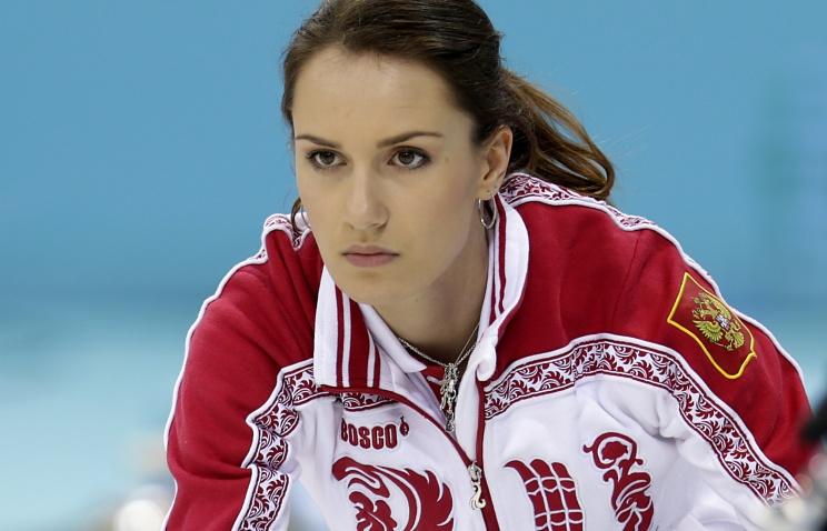 Керлингистка Анна Сидорова, 24