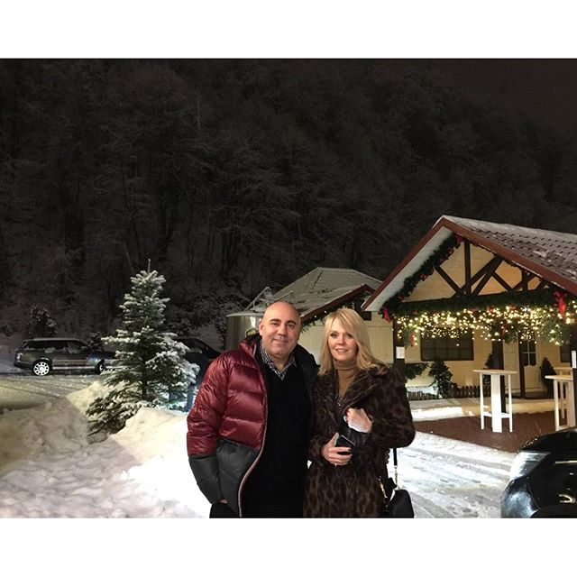Валерия побывала с мужем в зимней сказке.