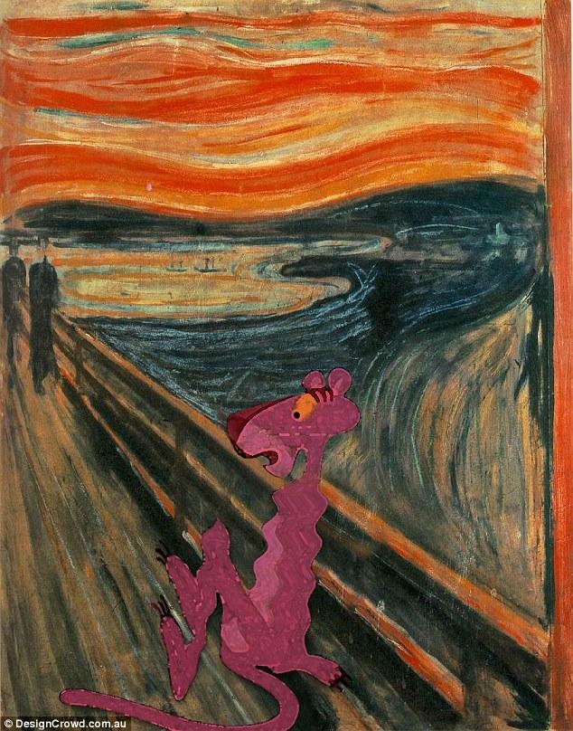 Эдвард Мунк, «Крик» - Розовая Пантера