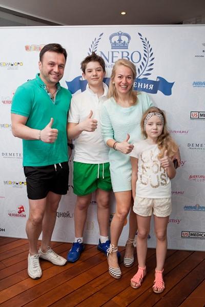 Давид Каландадзе с семьей