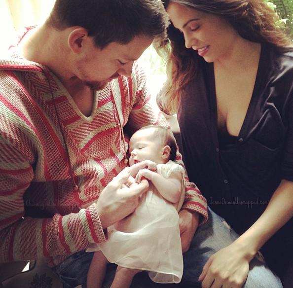 Ченнинг Татум с семьей