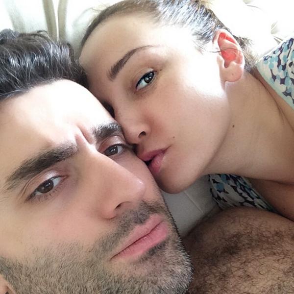 Телеведущая Анфиса Чехова (36) и актер Гурам Баблишвили (34)